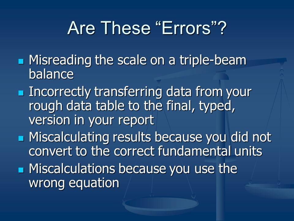 errors uncertainties and measurements
