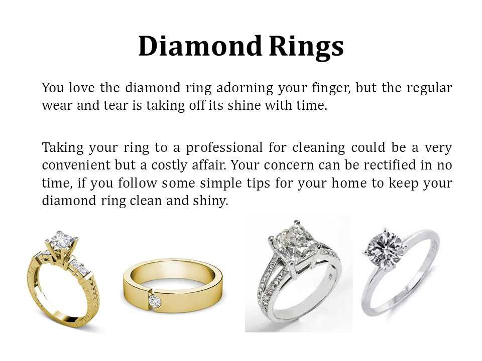 How To Clean Your Diamond Ring Diamond Rings You Love The Diamond