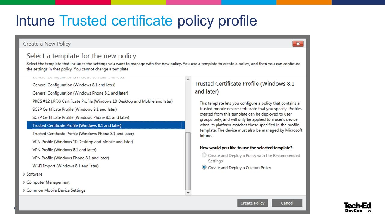 Ondrej sevecek gopas as mcsmdirectory services mvp 20 intune trusted certificate policy profile xflitez Image collections
