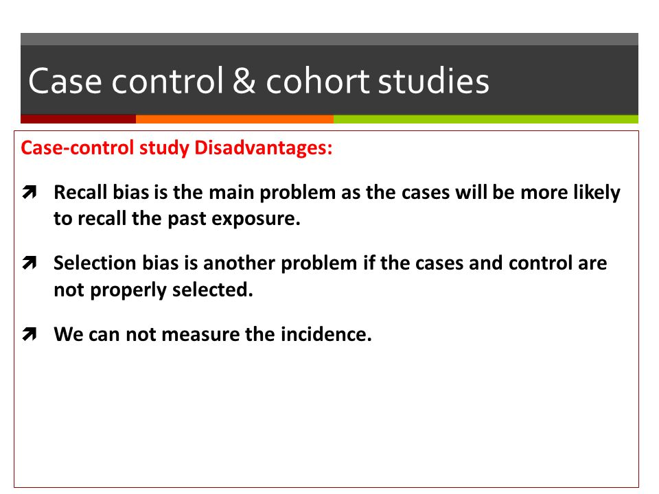 case control study advantages Advantages of matching matching is a useful method to optimize resources in a case control study matching on a factor linked to other factors may automatically control for the confounding role of those factors (eg matching on neighborhood may control for socio-economic factors.