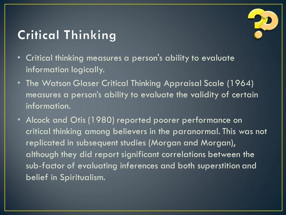 watson-glaser critical thinking appraisal
