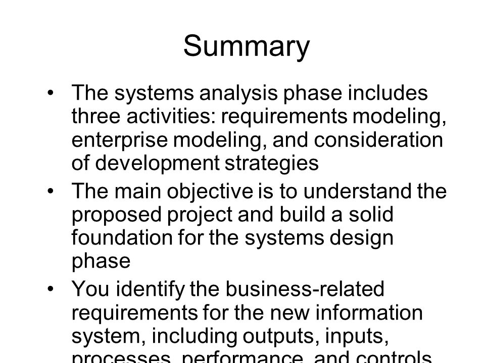 System Development Fundamentals System Analysis and Design (INF123 ...