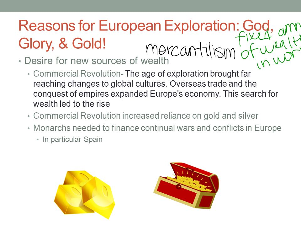 the reasons underlying european expansion and exploration