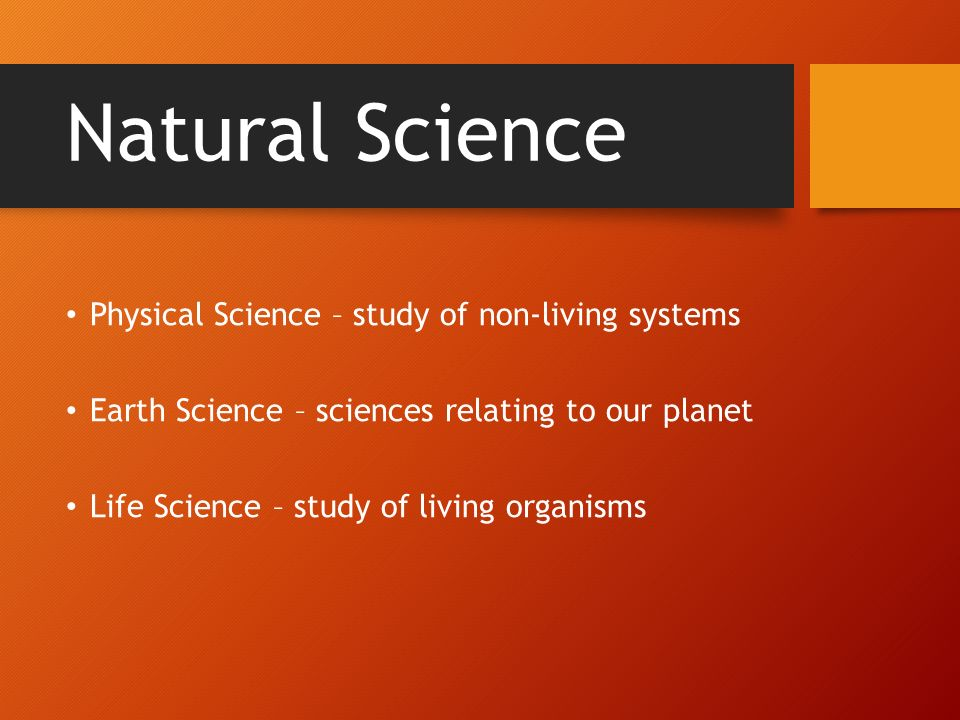 Types of Science Science undoubtedly touches and influences ...