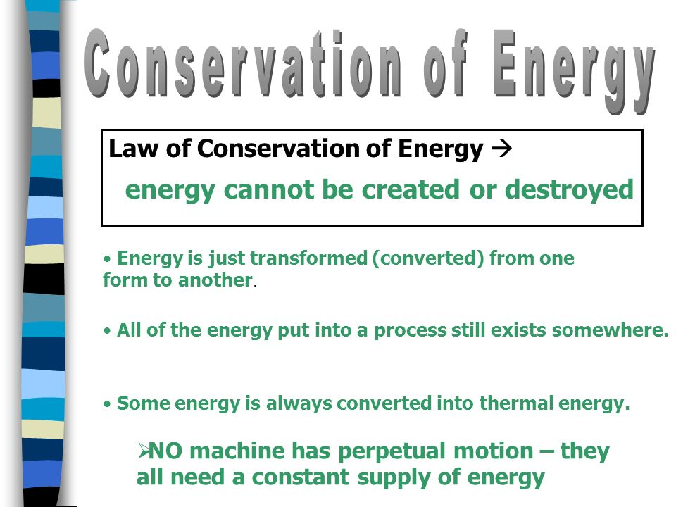 Energy Conversion - a change from one form of energy to another ...