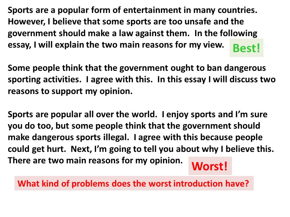 ban dangerous sports essay
