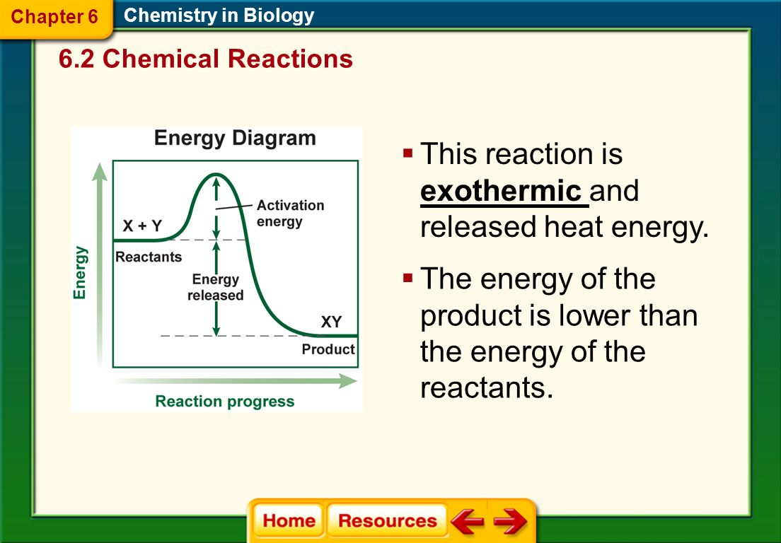 Q Define Exothermic and give an example of this type of reaction.