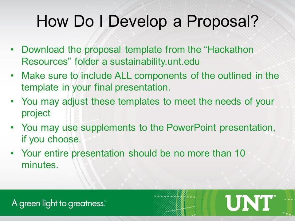 first inaugural unt sustainability hackathon. student – focused, Presentation templates