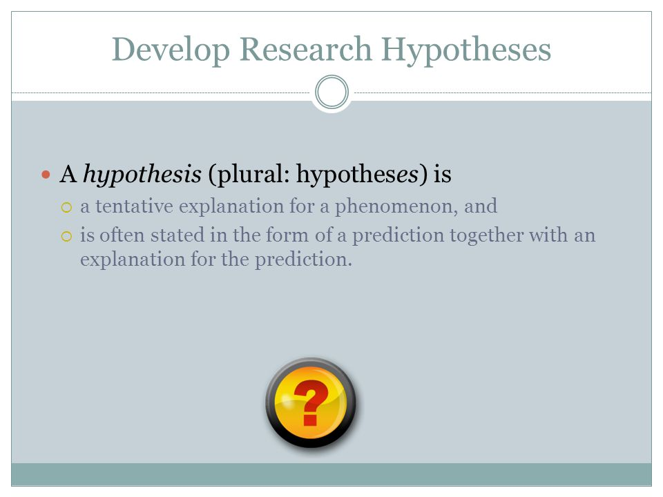 plural of hypthesis How can the answer be improved.