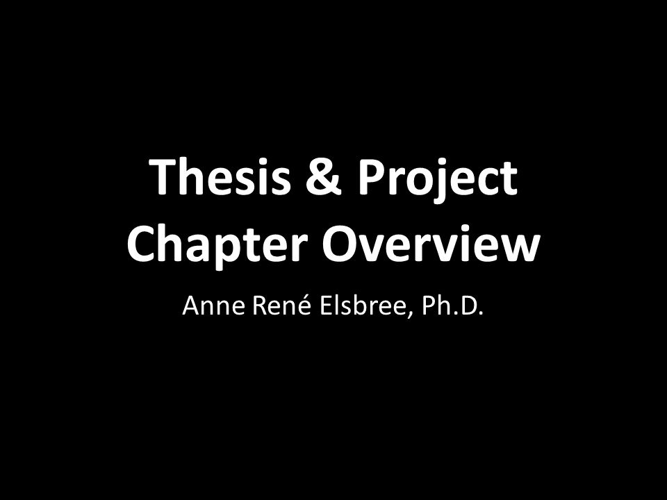 phd thesis overview Steps to the phd overview nuin is one of 3 life science phd programs at northwestern these events are documented by the thesis committee status report.