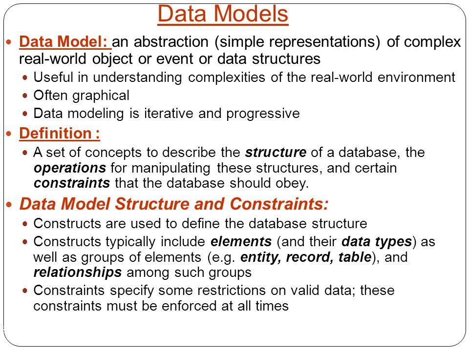 data model definition