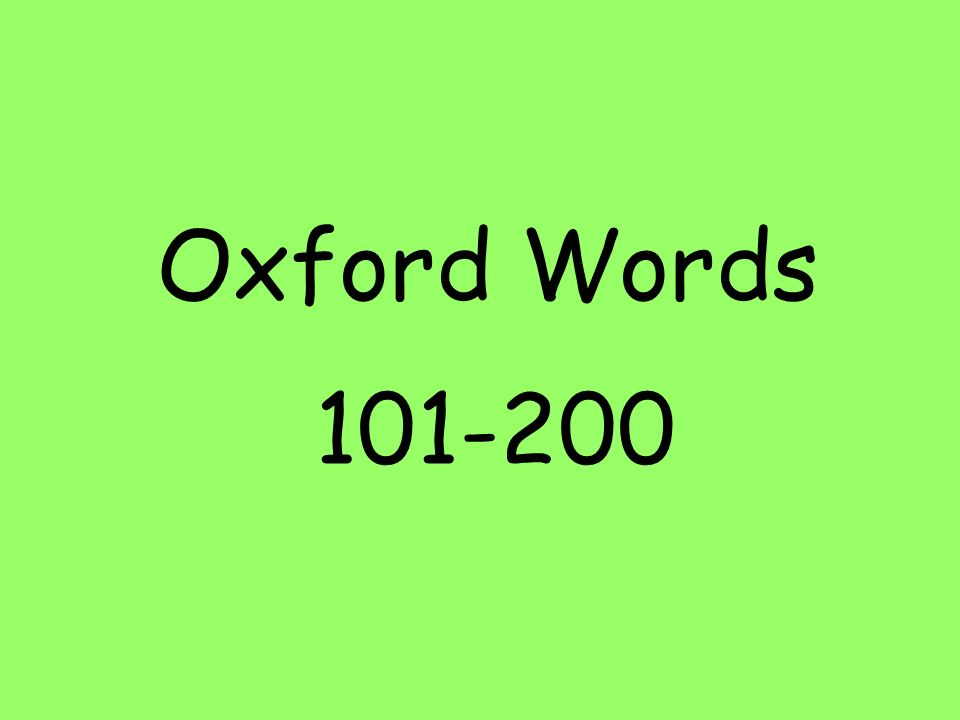 Oxford Words 101-200