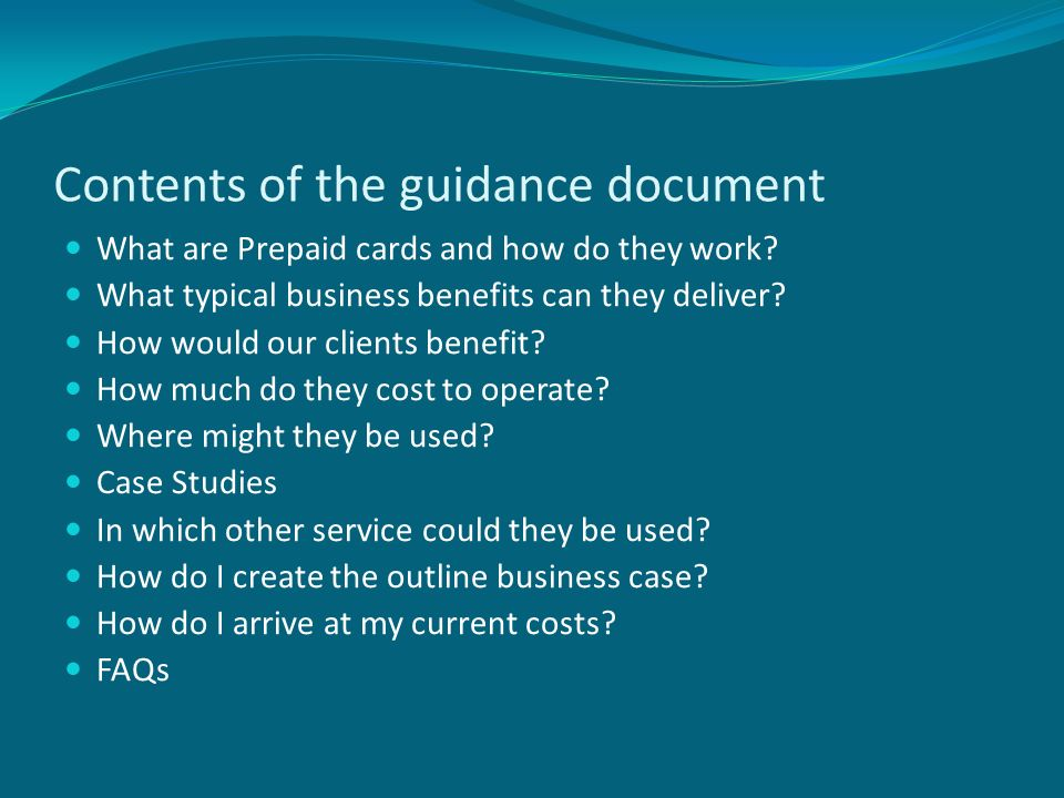 Prepaid Card Business Case | Best Business Cards