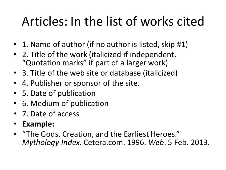 how do you cite a website in mla format Mla format guide to help you create your mla citations for all sources learn how to cite a website, cite a book, cite a journal and many others.