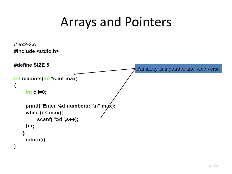 Introduction to Computer Organization & Systems Topics: C arrays C ...