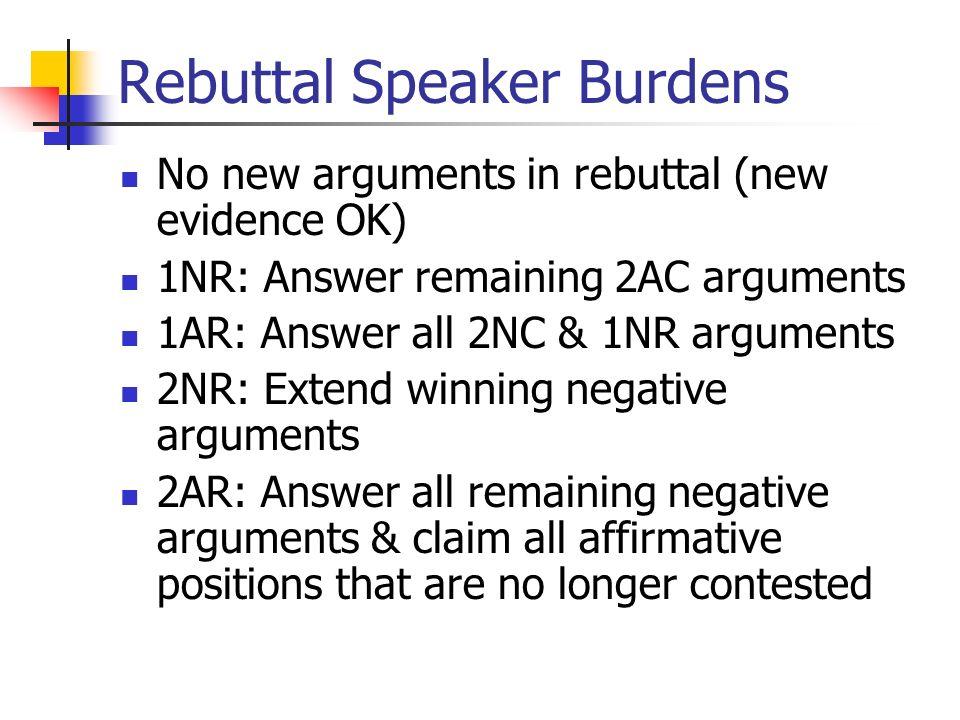 rebuttal affirmative Debate example: affirmative rebuttal - duration: 1:46 mef freshman english 2,431 views 1:46 second speaker - debating roles - duration: 6:58.