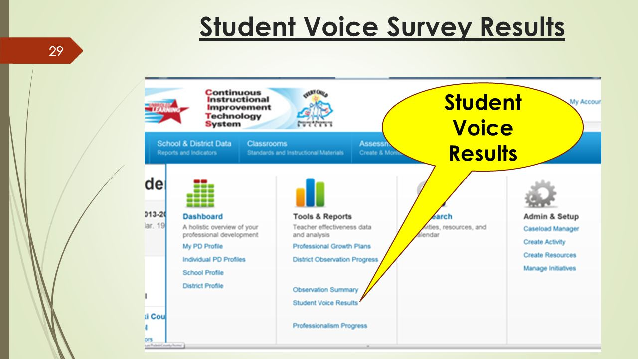 Student Voice Survey Results Student Voice Results 29