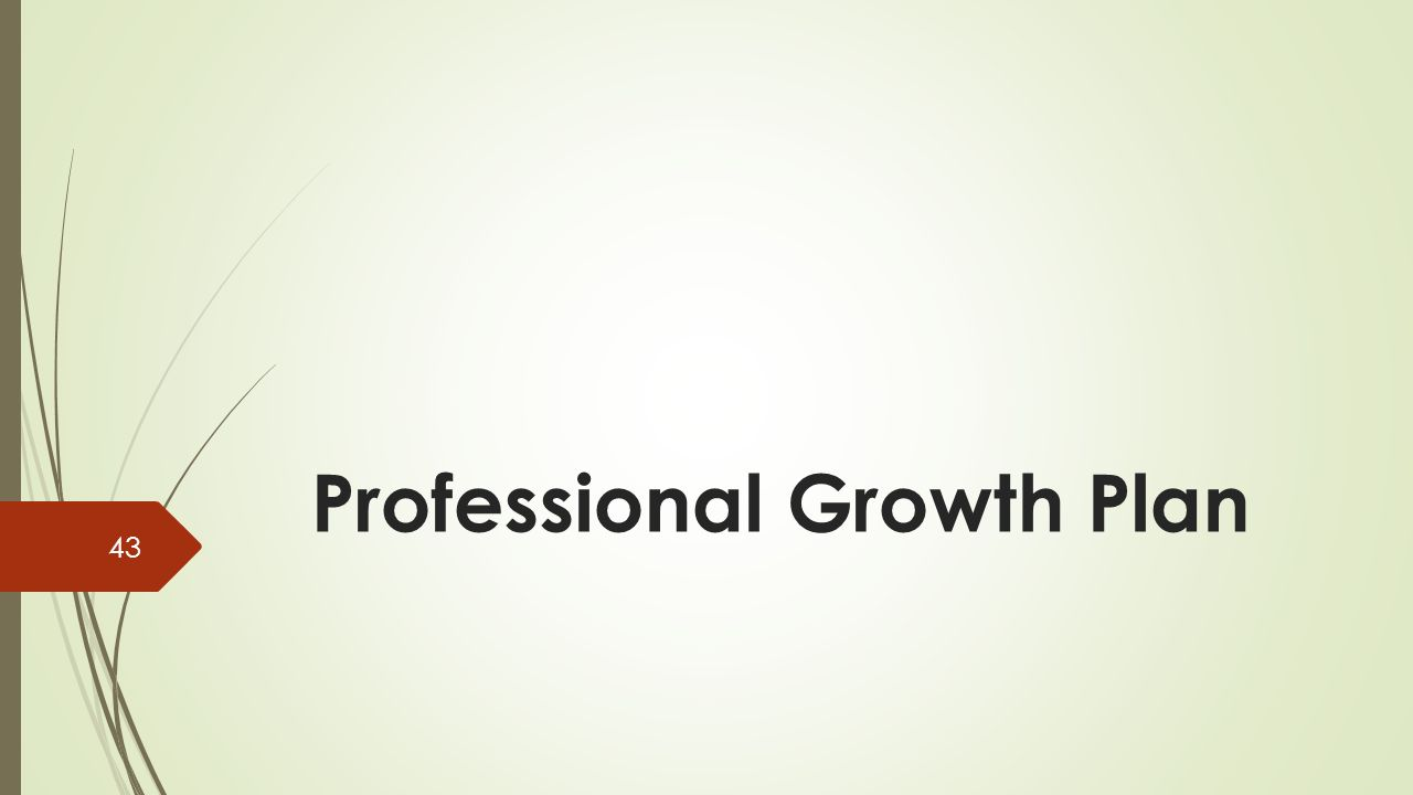 Professional Growth Plan 43