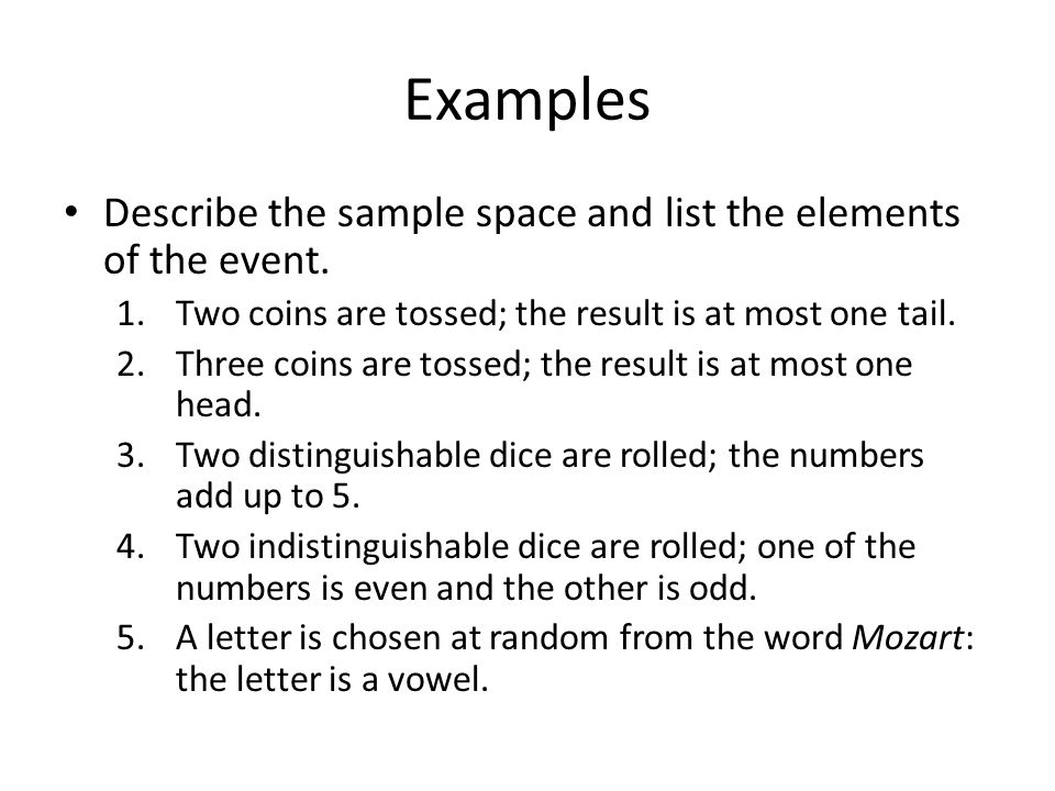 Math 1320 Chapter 7: Probability 7.1 Sample Spaces and Events ...