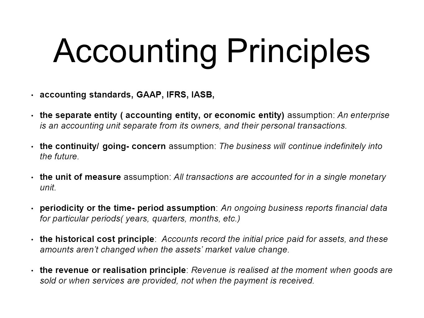 ifrs and gaap accounting principles essay