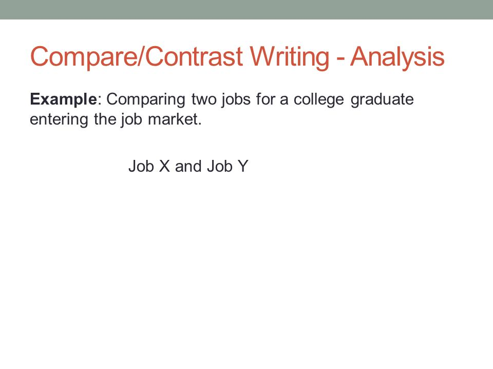 compare and contrast jobs