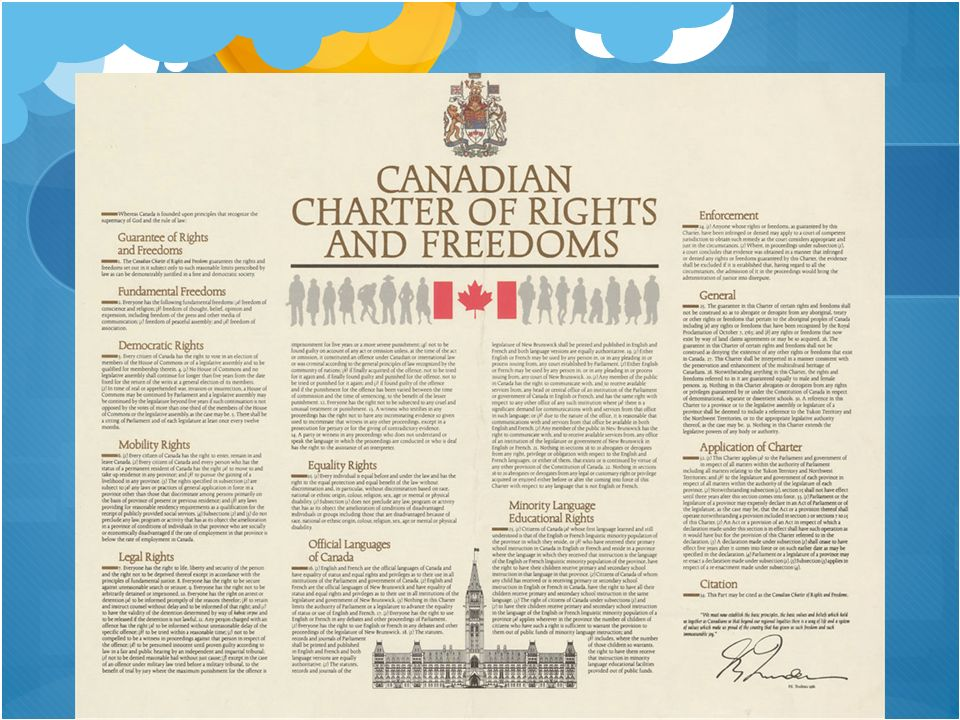 the charter of rights and freedom and its affect on canada essay How does the charter affect law making in canada other rights that guarantee our freedom in canada include democratic rights (the right to vote.