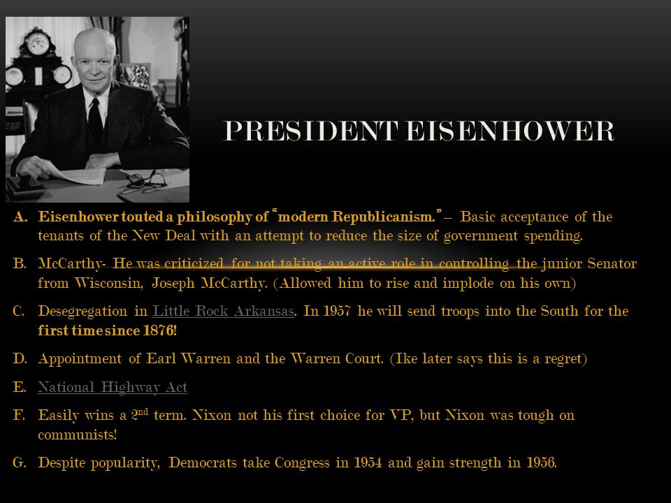 truman and eisenhower presidents with two different agenda essay Truman doctrine essay president truman became enraged at was considered slightly distinct from the doctrines of the other two presidents because he.