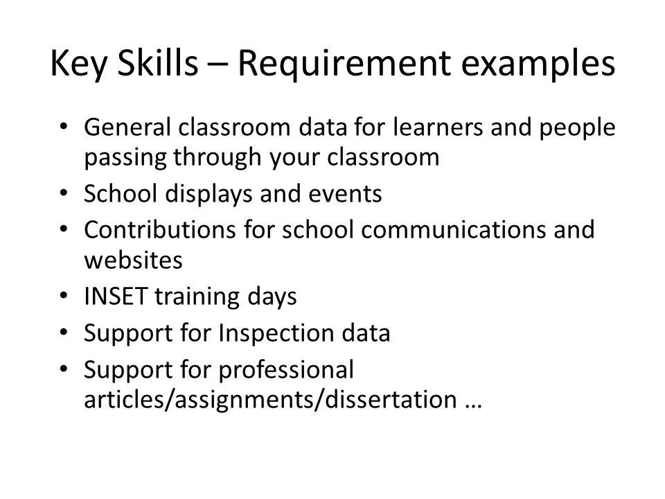 Key skills resume examples