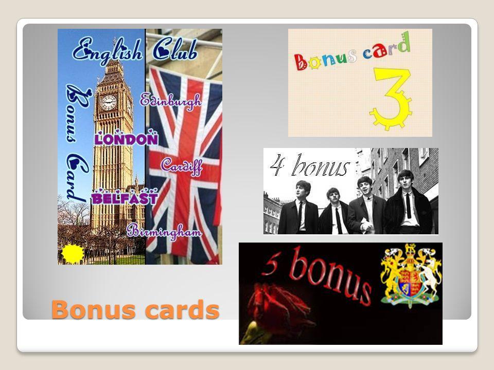 Bonus cards