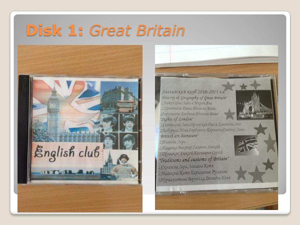Disk 1: Great Britain