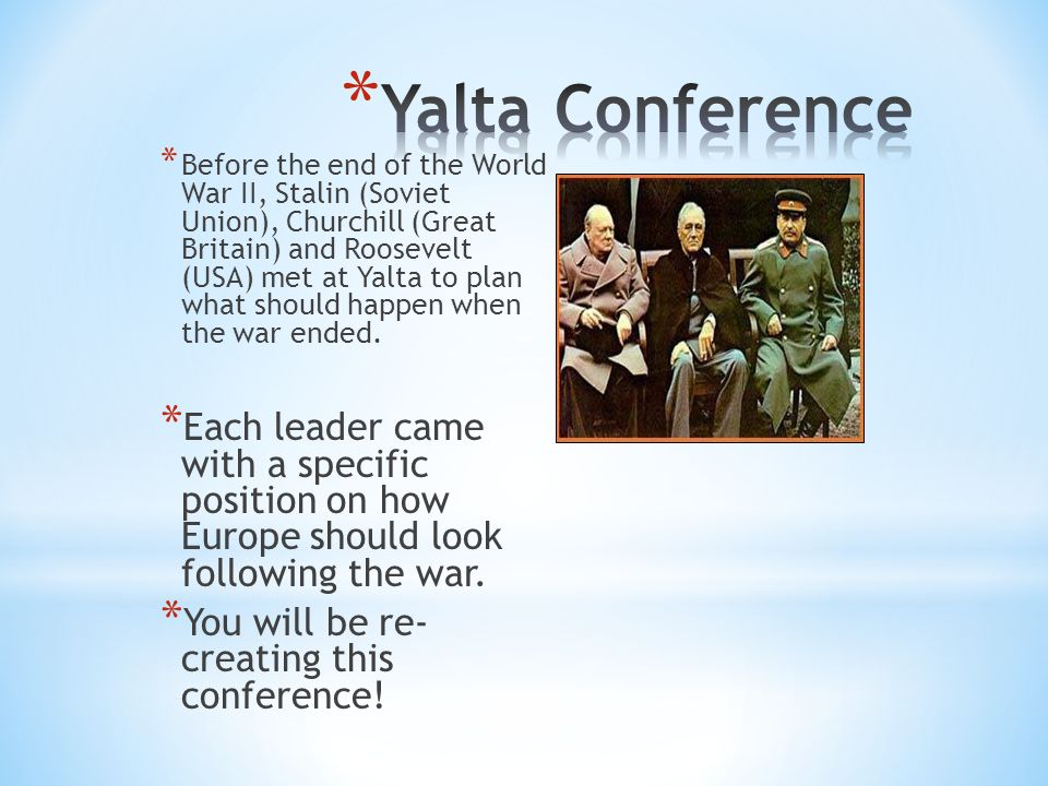 an analysis of the yalta conference after world war two Find out more about the history of yalta conference, including videos, interesting articles, pictures, historical features and more get all the facts on historycom.