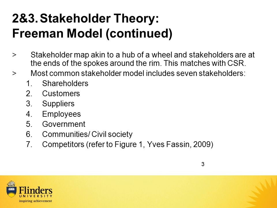 stakeholder theory and competing concept essay The stakeholder concept: and that the proper objective of management is to balance their competing recommended papers value maximization, stakeholder theory.