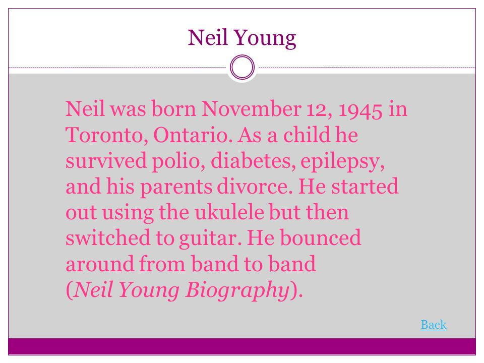 Neil young diabetes