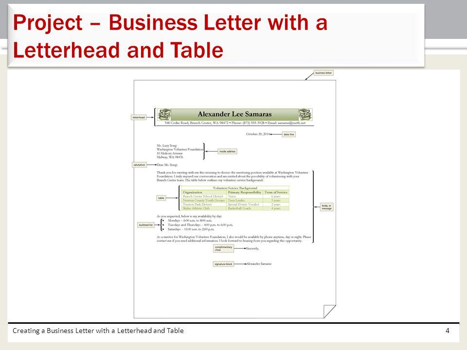 create letterhead in word 2013