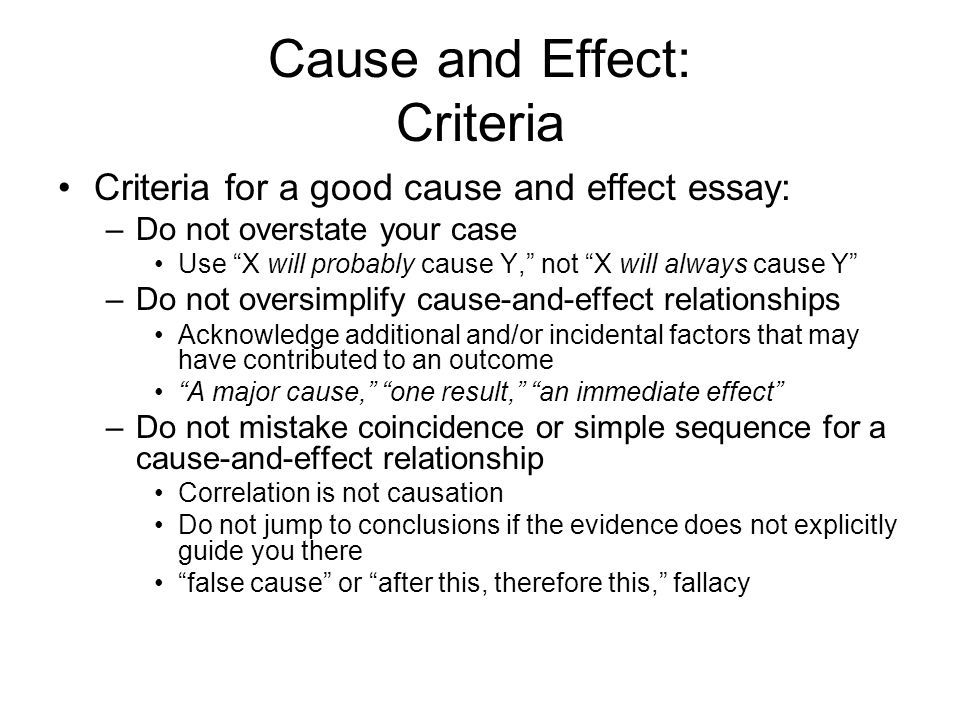 cause and effect essay papers Cause and effect essays are created to indicate a relationship between the subjects after the close examination as cause and effect essay papers may have page.