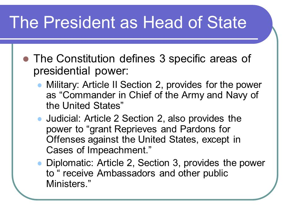 the presidential powers as stipulated by article ii of the us constitution Start studying gov 100 chapter 10 learning assessment the president's executive powers are stipulated in article ii of the constitution.