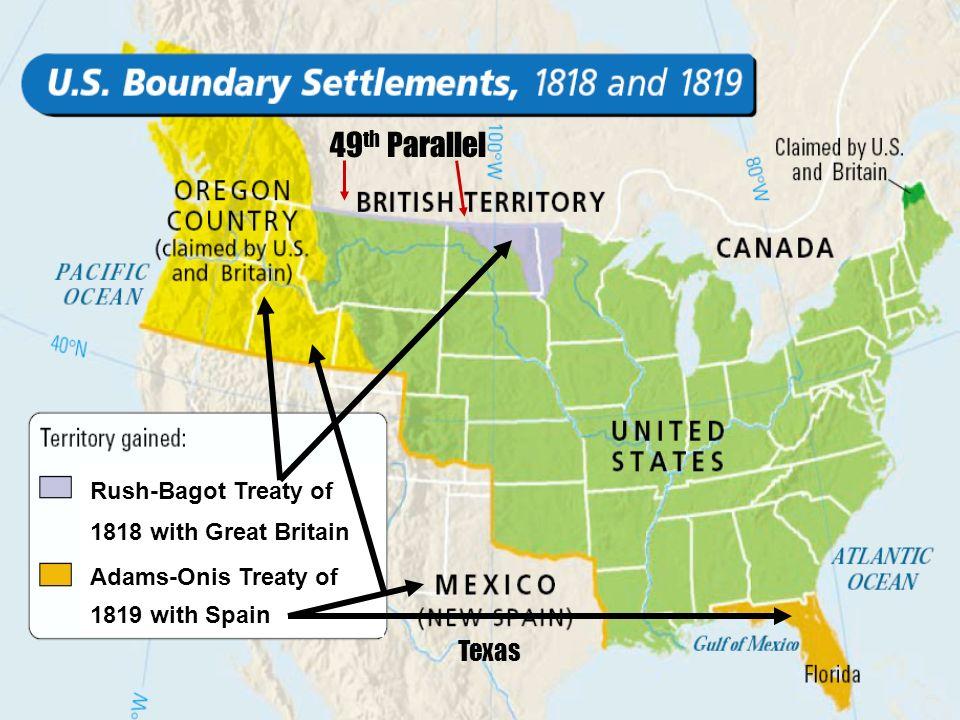 US Unprepared For War Failed Invasion Into Canada Blockade Hurt - Us 1818 border map