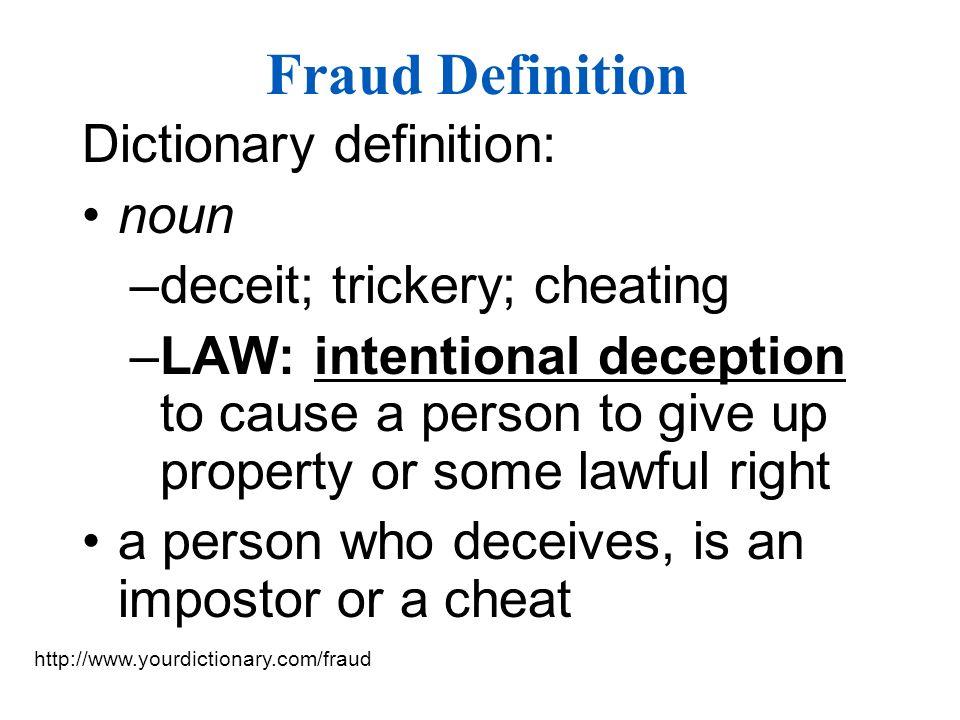 6 Fraud Definition ...