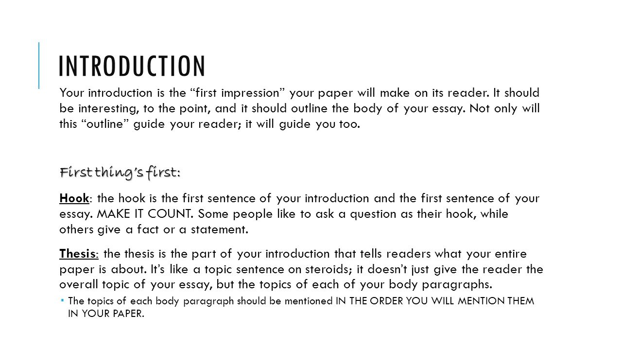 the five paragraph essay grammar review the five paragraph essay  3 introduction