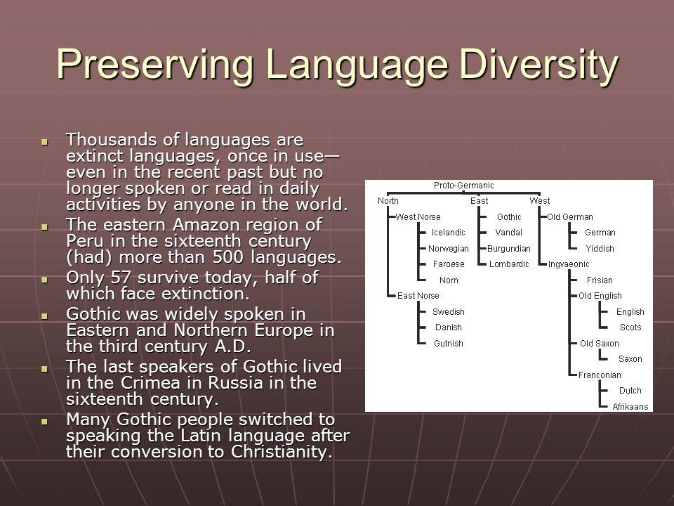 Chapter Language World Of Tongues Earths Heterogeneous - Extinct languages