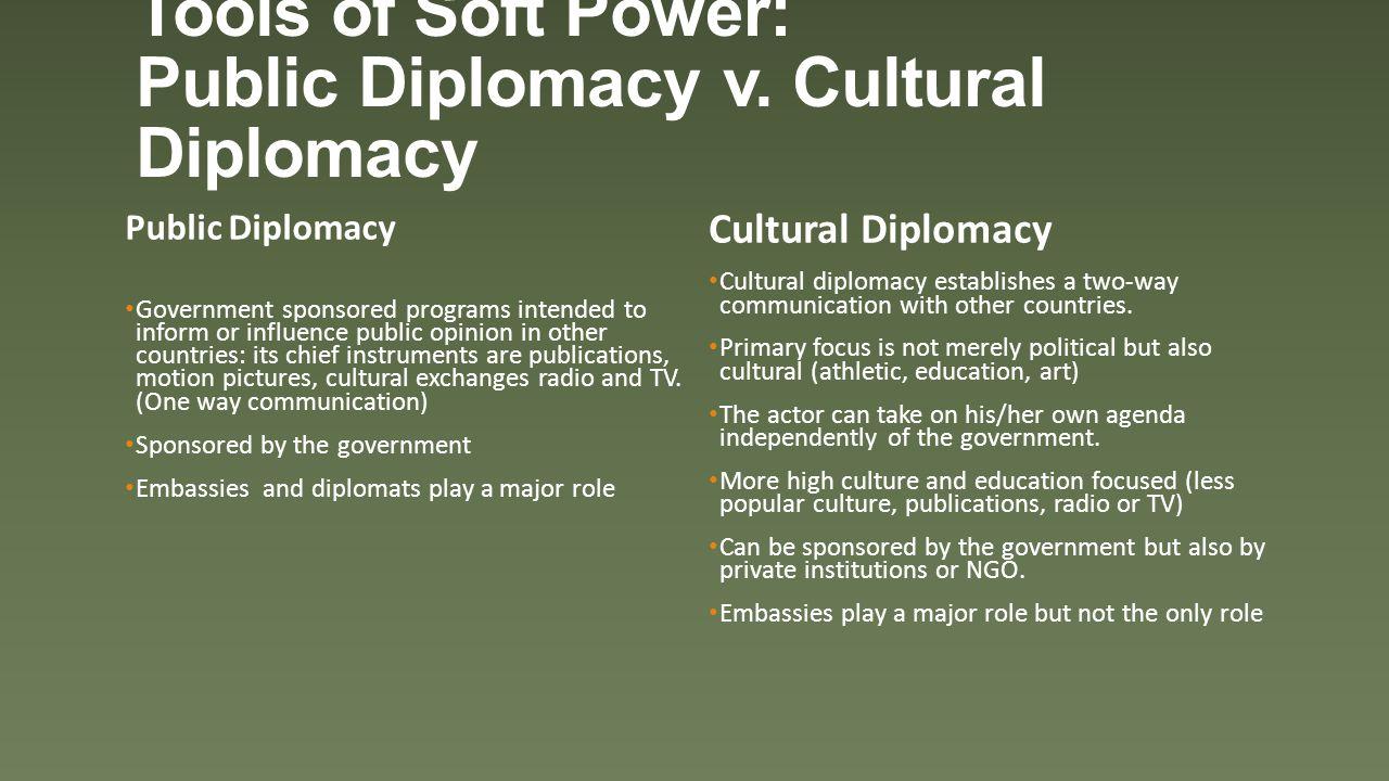 Tools of Soft Power: Public Diplomacy v.