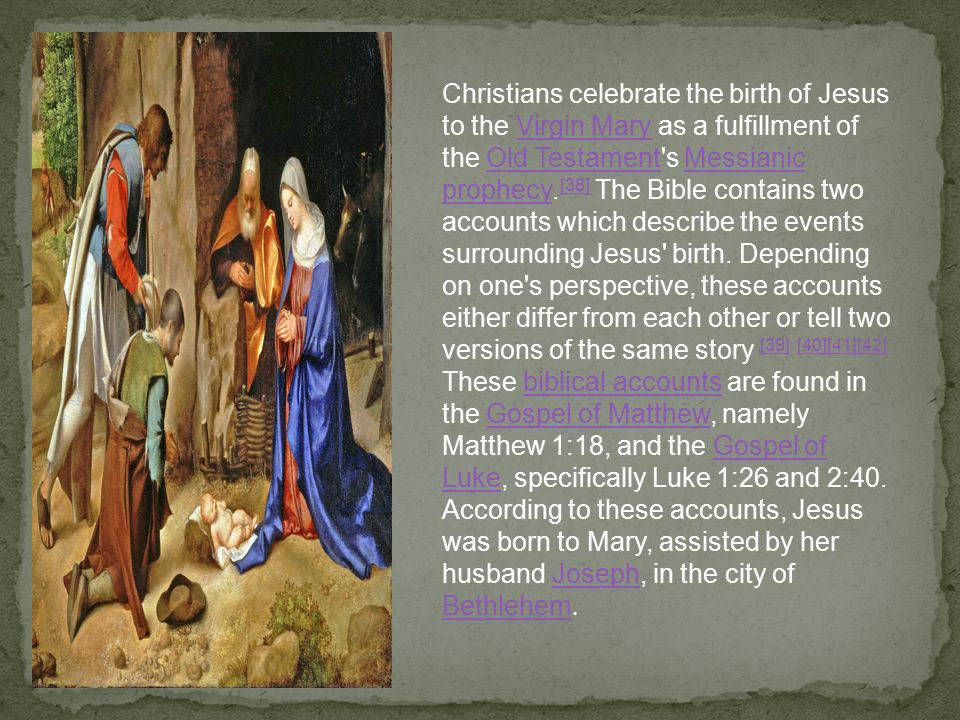 the fulfillment of the old testament and the messiah in the gospel of matthew in the bible The following is an excerpt from the macarthur new testament commentary on matthew the prophet might be fulfilled john's book why believe the bible.