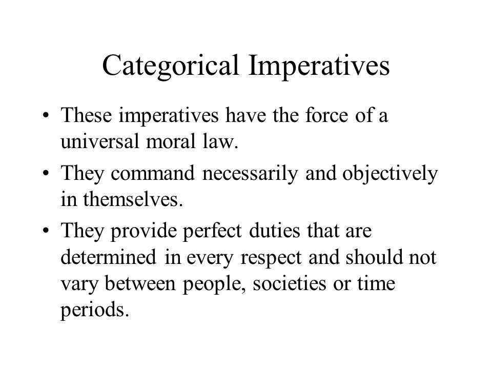 9 Categorical Imperatives ...