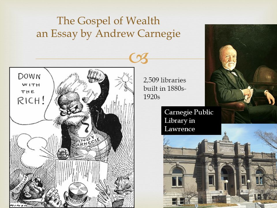 andrew carnegie on the gospel of