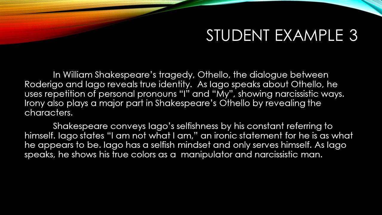 an analysis of tragedy in the play othello by william shakespeare