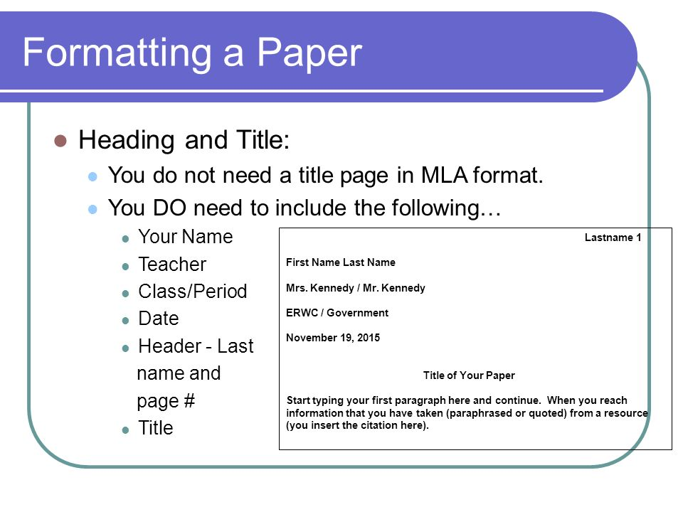 Research Paper Citation Format