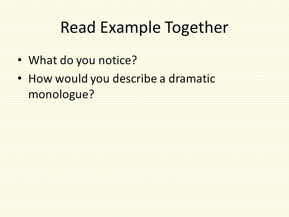 an overview of dramatic monologue Robert's monologue from betrayal including context, text and video example.