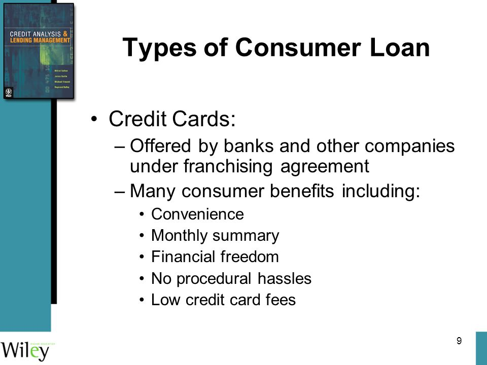 Prepared by John Anderson Queensland University of Technology – Consumer Loan Agreement