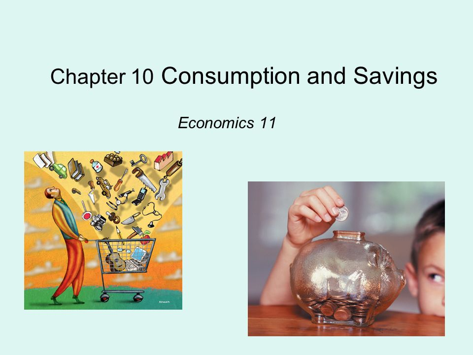 Chapter 10 Consumption and Savings Economics 11