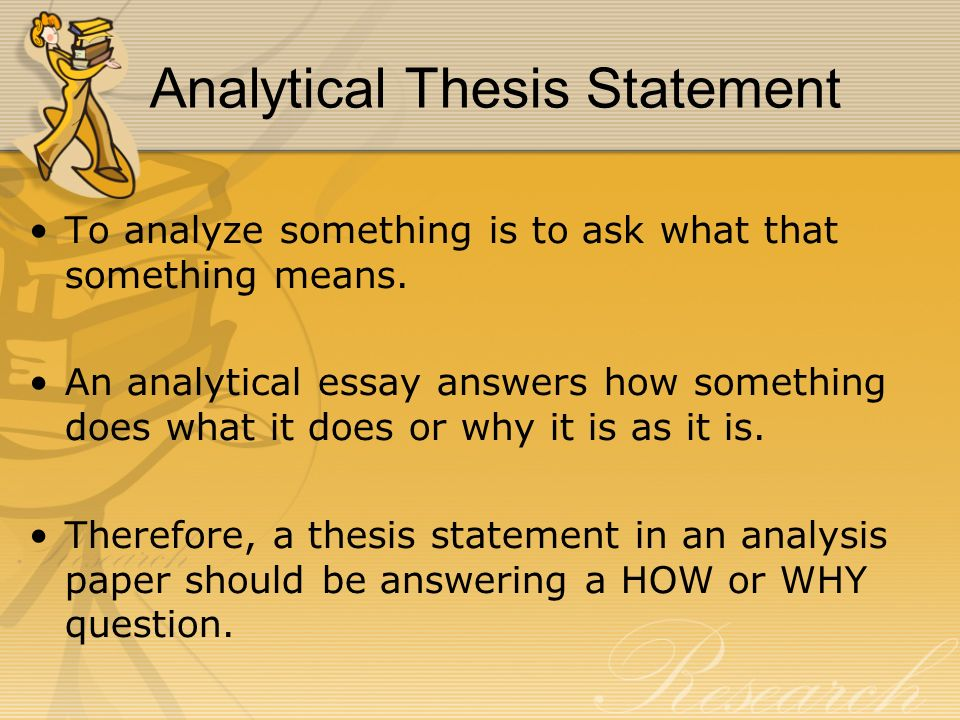 How To Right A Thesis Statement